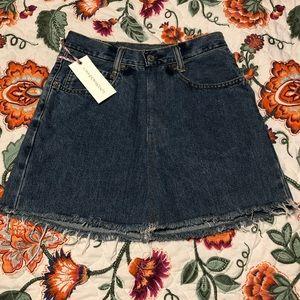LoveShackFancy BNWT Vintage Levi's Denim Skirt 25
